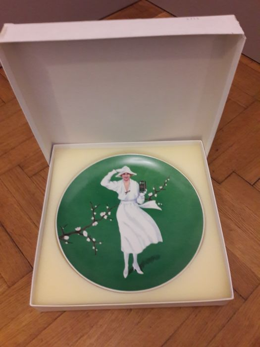 Old pure porcelain - limited - number 258 / 2500 - PERSIL - motif 1 - diameter 26cm - HUTSCHENREUTHER - made in Germany - signed.