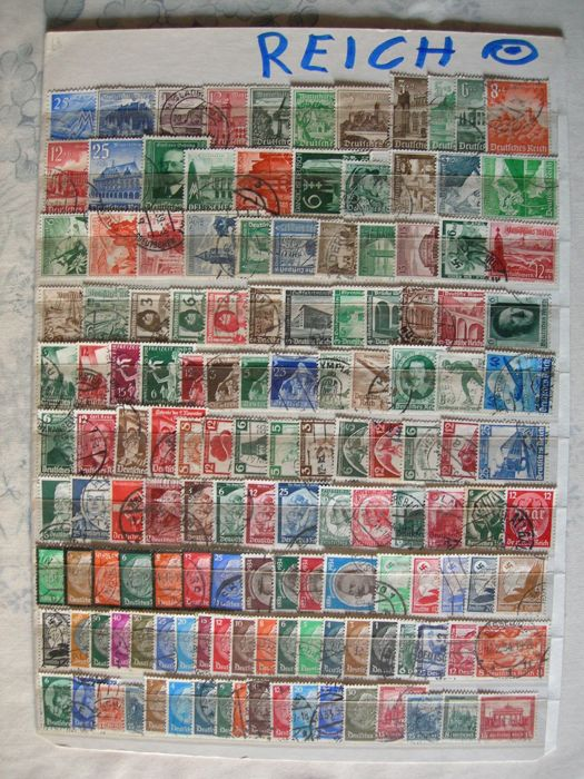 German Empire 1922/1933 - stamp collection III. Reich