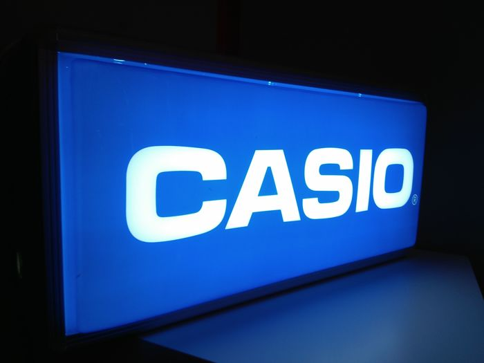 Luminous advertising sign of CASIO Late 20th century