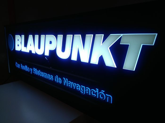 Official luminous advertising sign of BLAUPUNKT Late 20th century
