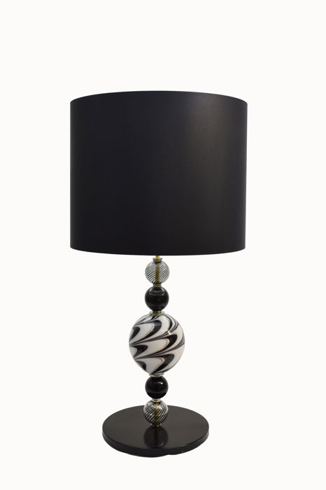 Eros Raffael - Black and white Fenicio lamp (90 cm)