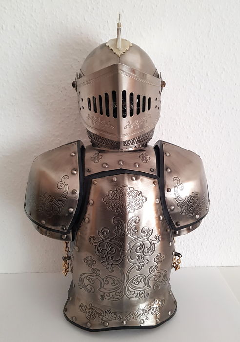 Knight - metal bar - mini bar - approx 40 cm