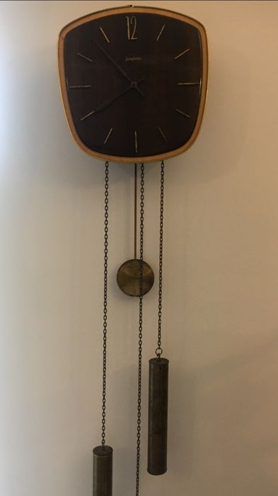 Junghans - grandfather clock and German mechanical weights