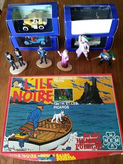 Tintin - 4x voitures Atlas + puzzle Hemma + 5 figurines Bully / Carrefour - (1983-2005)