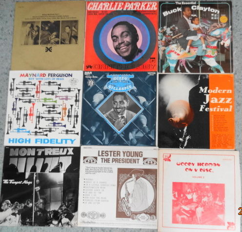 9 Albums (10 LP's) Blowin' Some Jazz in the Grooves.