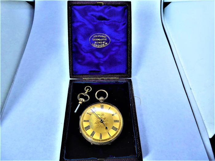 h king preston.. -  fusee gents  pocket watch. chester {c} 1866-67. - Hombre