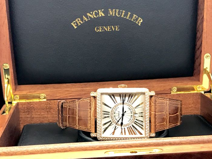Franck Muller - Master Square 18K pink gold with diamond  Watch - 6000K-SC-D-CD-1R-REL-5N 44mm XL - Unisex - 2011-heden
