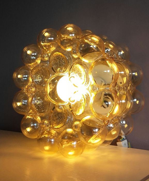 Helena Tynell for Glashutte Limburg -  Ceiling light  -  Amber Bubble Glass