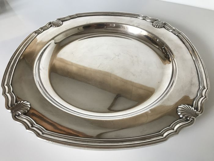 Christofle, Gallia Collection - round serving tray - (silver plated metal)