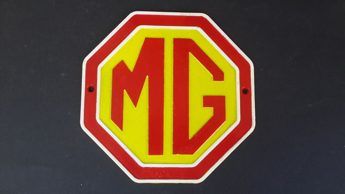 Vintage MG Wall Plaque/Sign