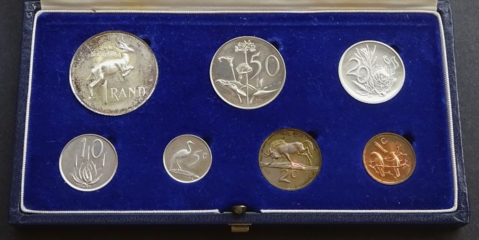 Zuid-Afrika - Yearset with 1 Cent up to and including 1 Rand 1968 (7 pieces)