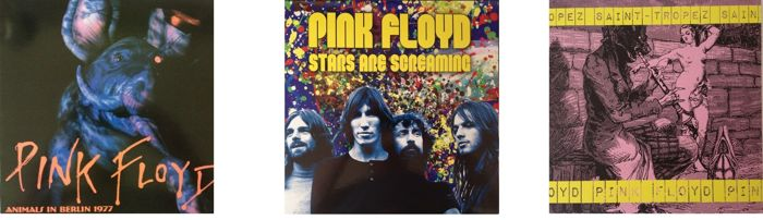 Pink Floyd Lot Of Three LP's  -  Live Recordings Including Coloured Vinyl  -  See Pics For All info