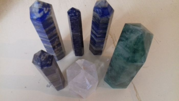 Lot of 6 Obelisks - 1100 g (6)