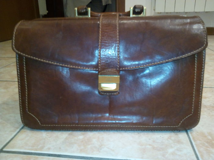The Bridge bag in real leather - Florence, Italy 1980