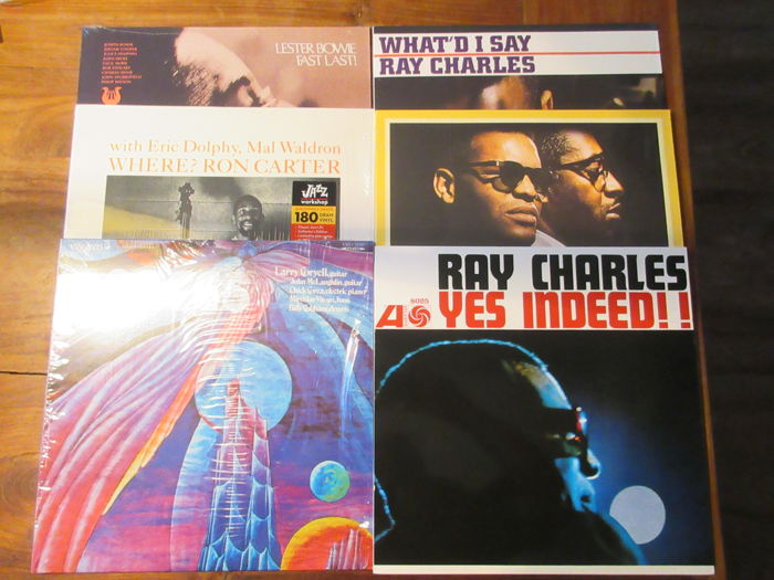 6 LP lot Jazz/Soul Ray Charles (3x) - Larry Coryell - Lester Bowie - Ron Carter