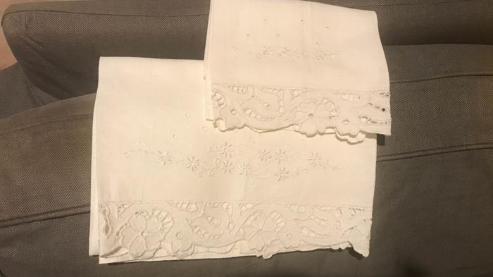 Pair of antique linen towels