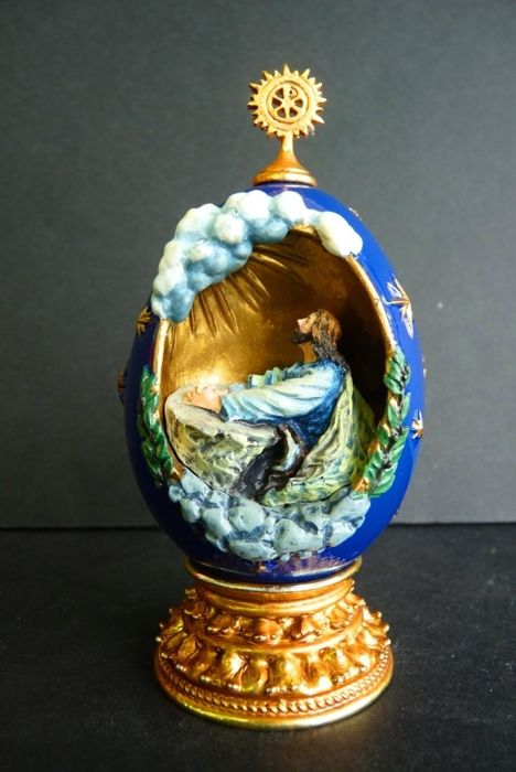 House of Fabergé - Religious collector egg 'The Agony in the Garden' - Numbered - Signed