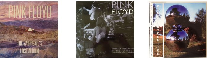 Pink Floyd Lot Of Three LP's  -  Live & Rare Recordings Including Coloured Vinyl  -  See Pics For All info