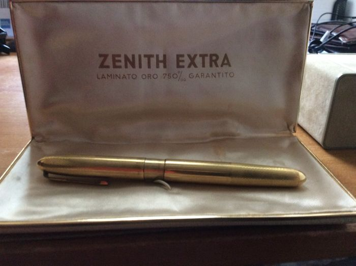 Zenith 750 gold laminate fountain pen