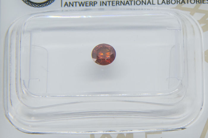 0.24 ct  Fancy Deep Reddish Orange Diamond  VG/VG  **** VERY LOW RESERVE ****