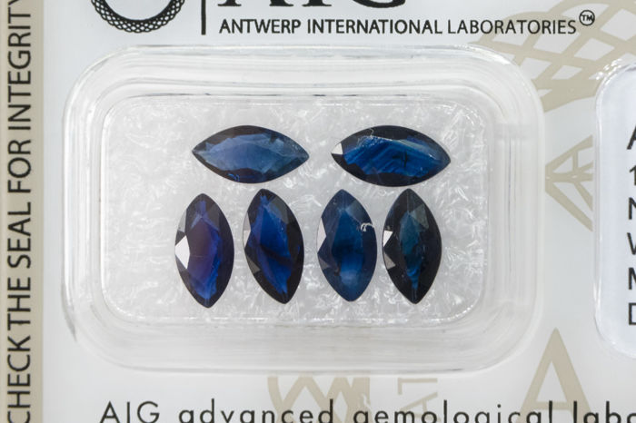 Blue Sapphire Lot - 6 Pieces - 3.51ct