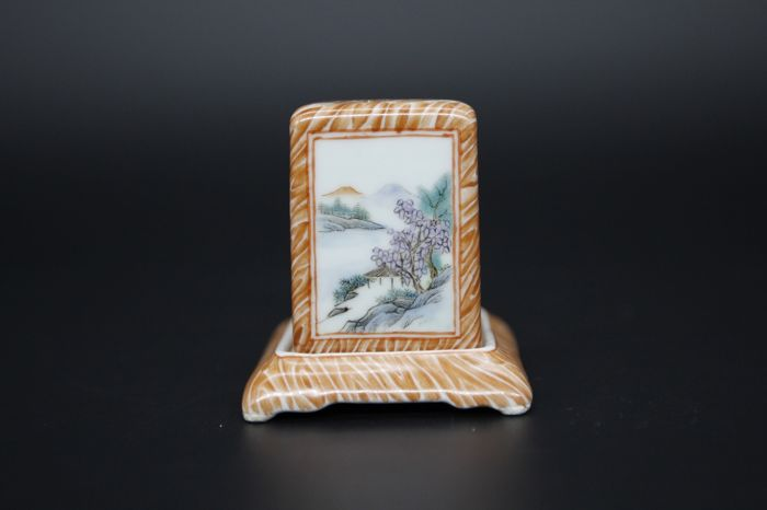 A rare famille rose miniature censer in porcelain - China - late 20th century