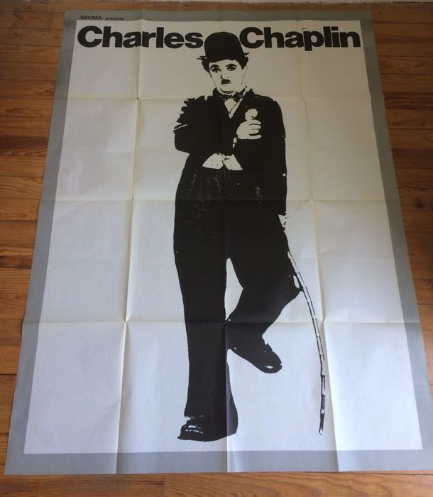 movie poster charles chaplin size 63 x48 inches format 160 x 120 cm original catawiki. Black Bedroom Furniture Sets. Home Design Ideas