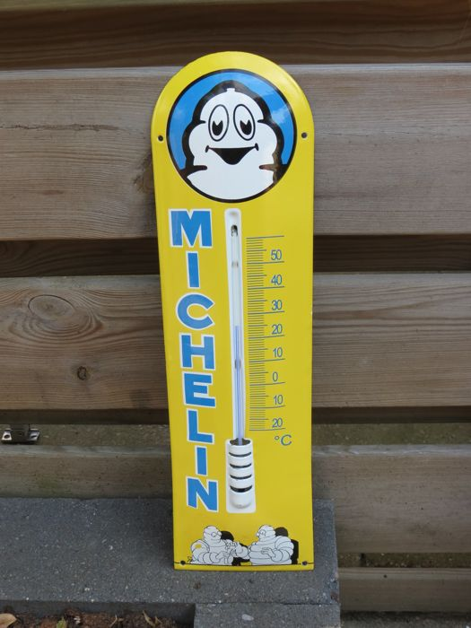 Emaille Michelin Thermometer