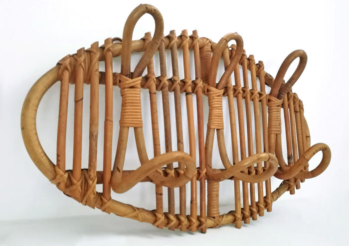 Bonacina - Oval coat rack in rattan