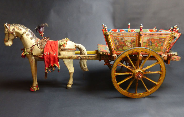 Model of a Sicilian cart - Italy - end 19th