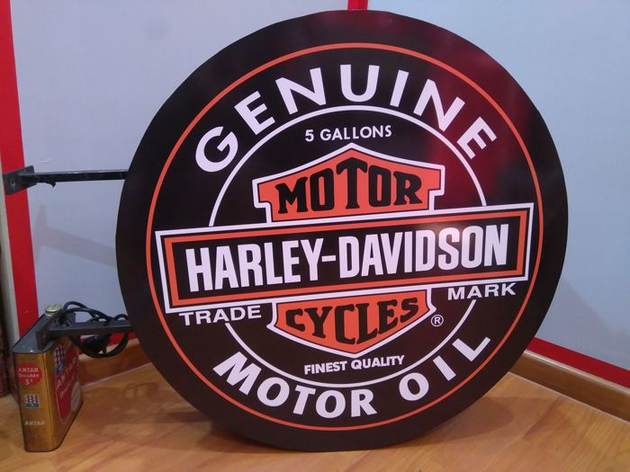 Luminous round sign of HARLEY-DAVIDSON