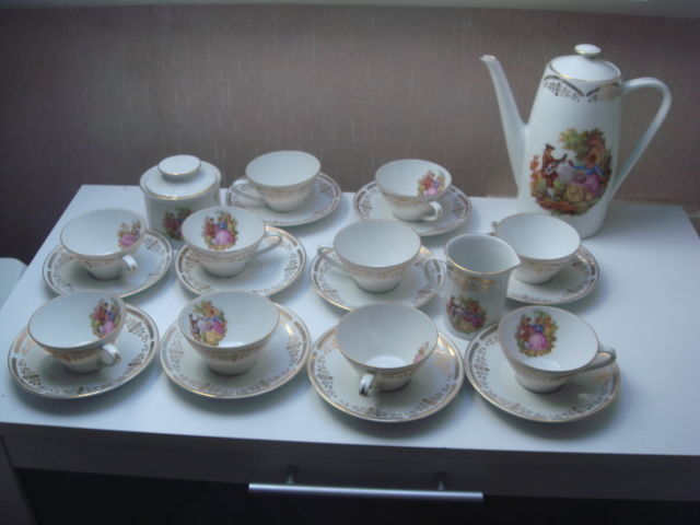 Schumann Arzberg Bavaria - Porcelain coffee set for 10 people