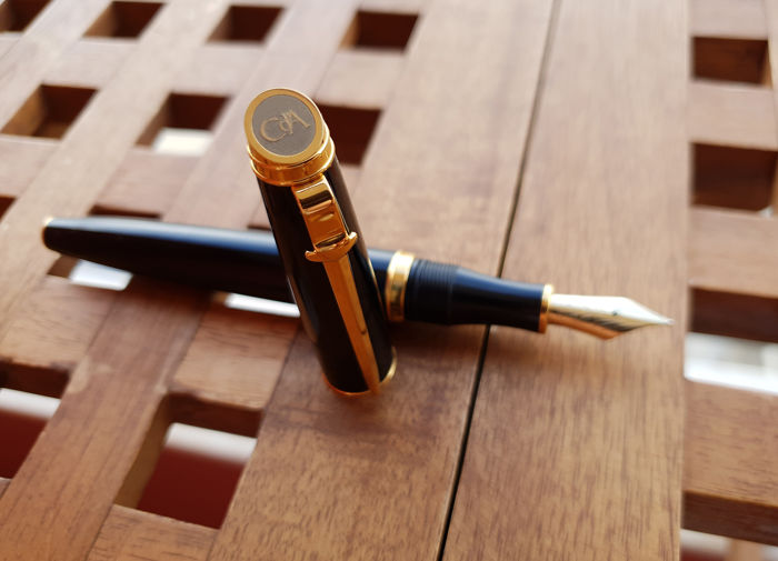 Caran D'ache Black + Gold Fountain Pen