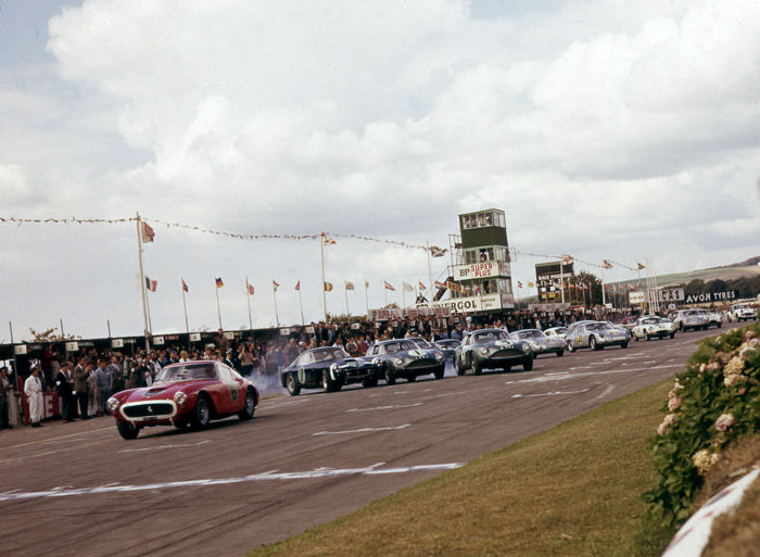 1961 Goodwood Tourist Trophy Start Aston martin Ferrari 250 GT Colour Photograph 54cm x44cm
