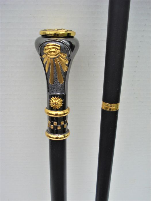 Walking stick with Freemasons logo