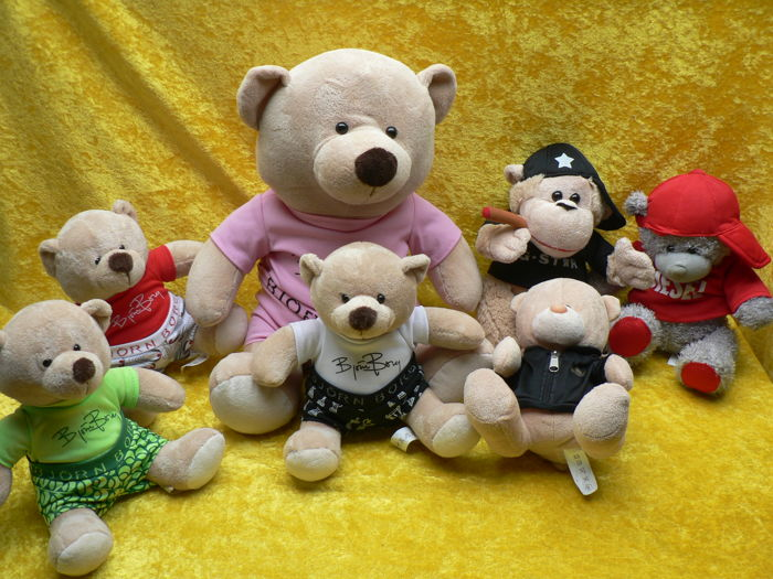 Lot of 6 bears and a monkey - Björn Borg, Diesel, Adidas and G-Star
