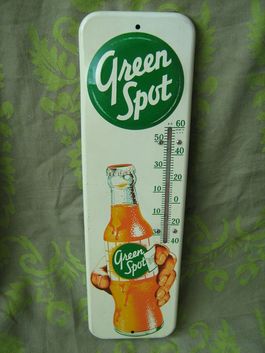 Emaille bord - Green Spot - Circa 1949 made in USA