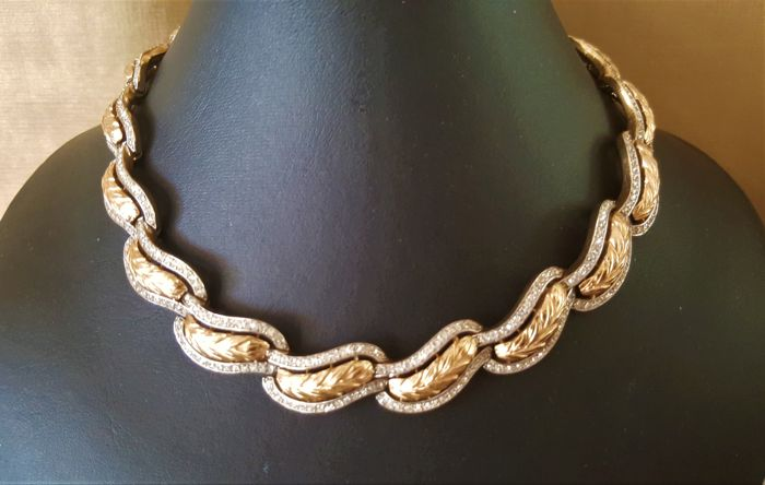 Exclusive TRIFARI - Alfred Philippe design Crystal Collier Necklace from 1950's