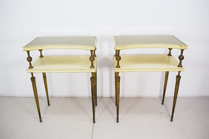 Unknown designer - pair of bedside tables
