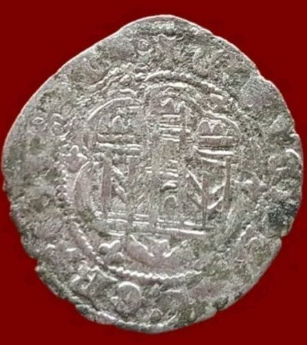 Spain - Enrique III (1390-1406) Vellon Blanca Toledo - 25 mm / 2.4 g