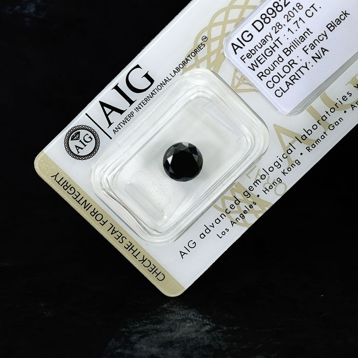 Black Diamond - 1.71 ct, NO RESERVE PRICE