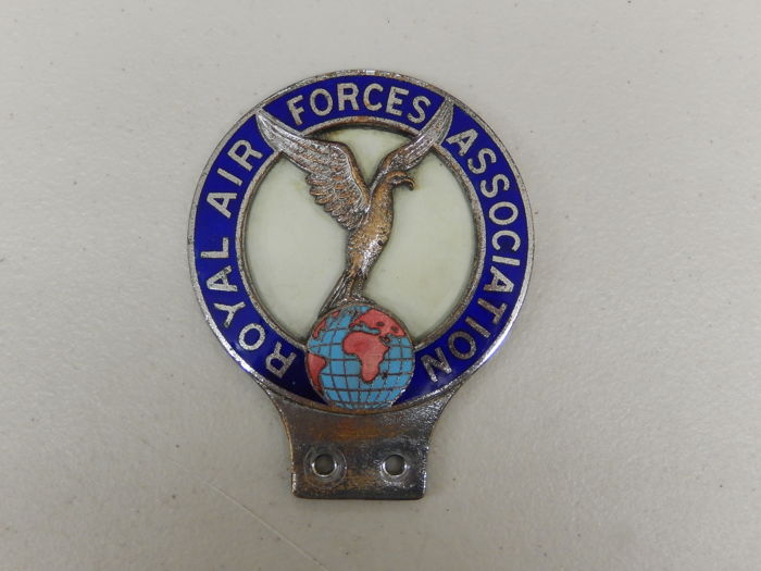 Vintage Metal and Enamel RAFA Royal Air Forces Association Car Badge Auto Emblem Approx 12 cm x 9.5 cm