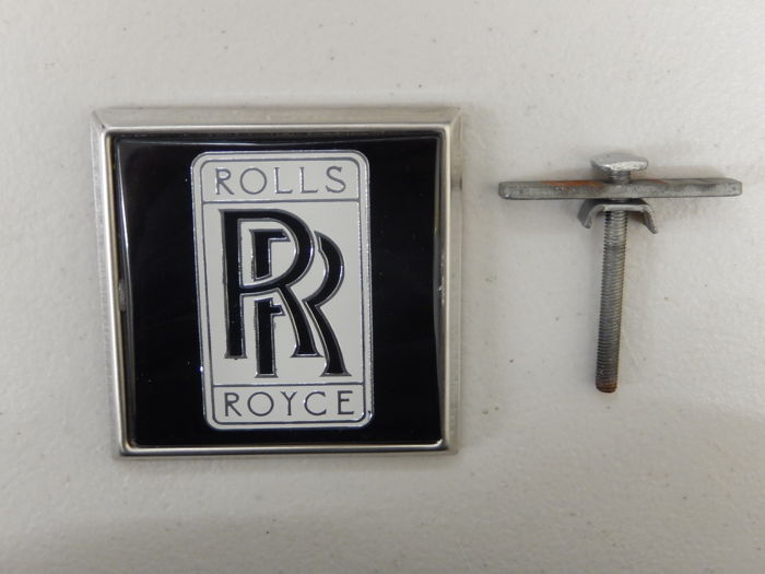 Vintage Original RR Rolls Royce Renamel 70's 80's Metal Car Badge in Unused condition 7.5 cm x 7.5 cm approx