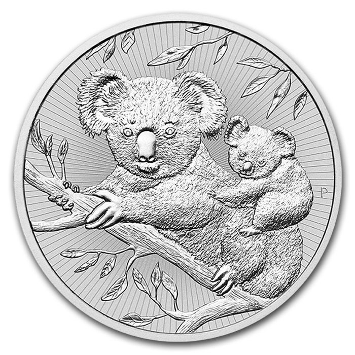 Australia - $2 - Perth Mint Koala 2018 - Piedfort - Next Generation - 2 oz 999 Silver Coin, First Edition