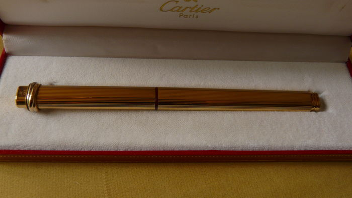 Cartier pen Le Must de Cartier model with box, outer box and certificates of origin