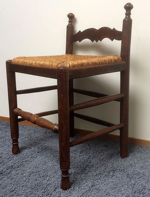 A reed mat chair, ca. 1930