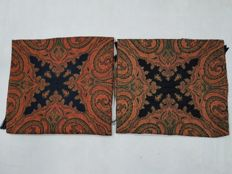 2 Piece Wool paisley Table cover 19th Century