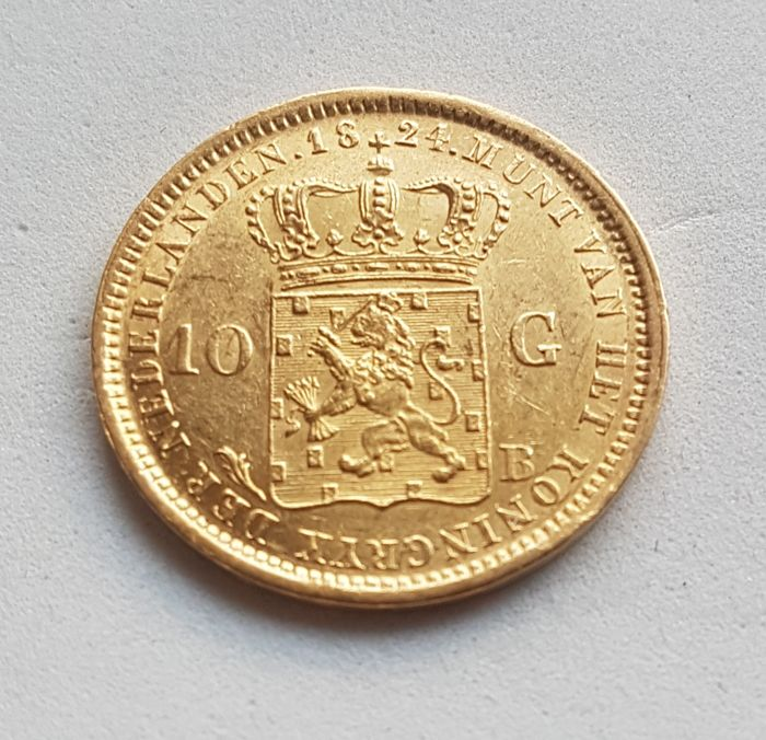 Netherlands - 10 Gulden 1824 - B  (Brussel) Willem I - Gold