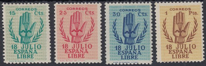 Spain 1938 - Second Anniversary of the National Uprising - Edifil 851/854