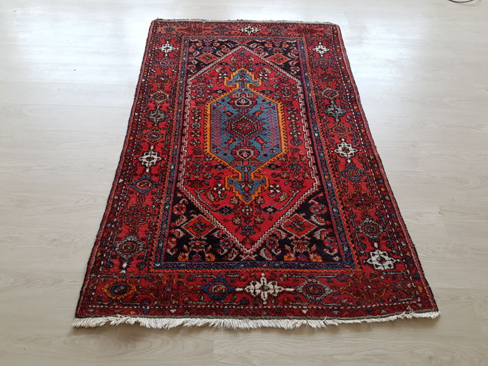 Old Persian bridge carpet, 205 cm x 126 cm